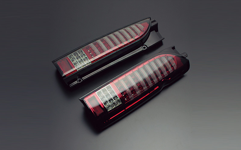 ライティングバー LEDテールランプ レッドスモーク ダイナスティ