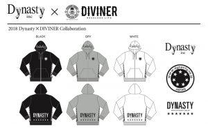DIVINER Dynasty ダイナスティ コラボ フーディー パーカー